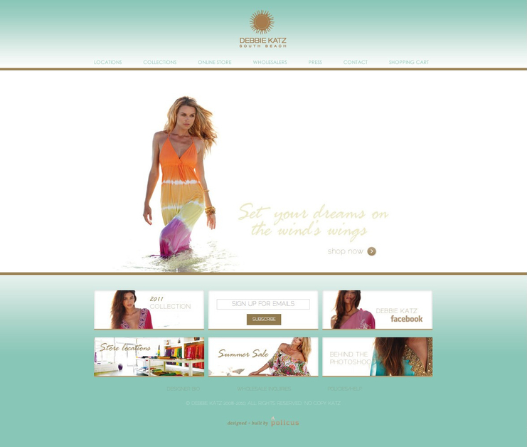 A great web design by Policus, Miami, FL: