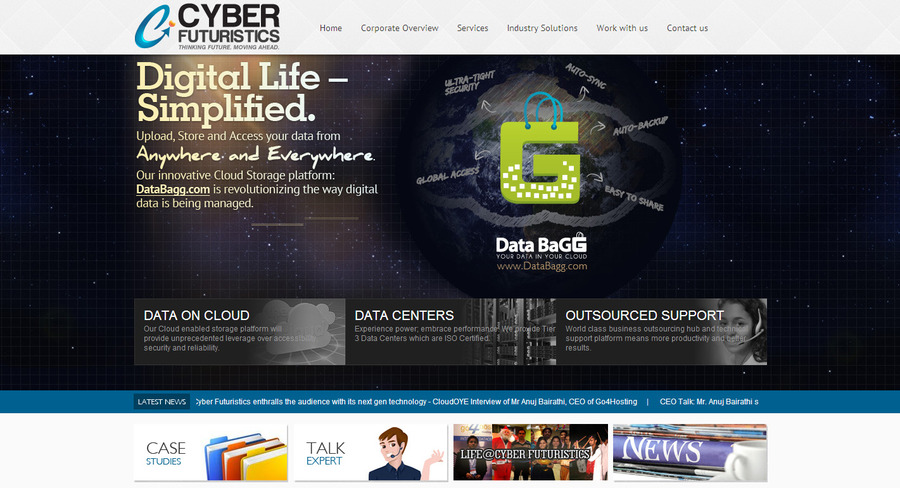 A great web design by Cyber Futuristics, New York, NY: