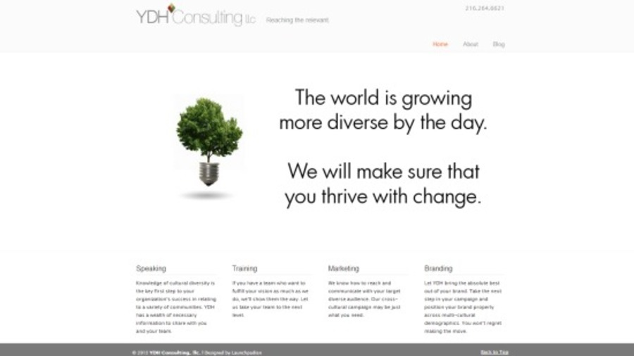 A great web design by Launchpadian, Cleveland, OH: