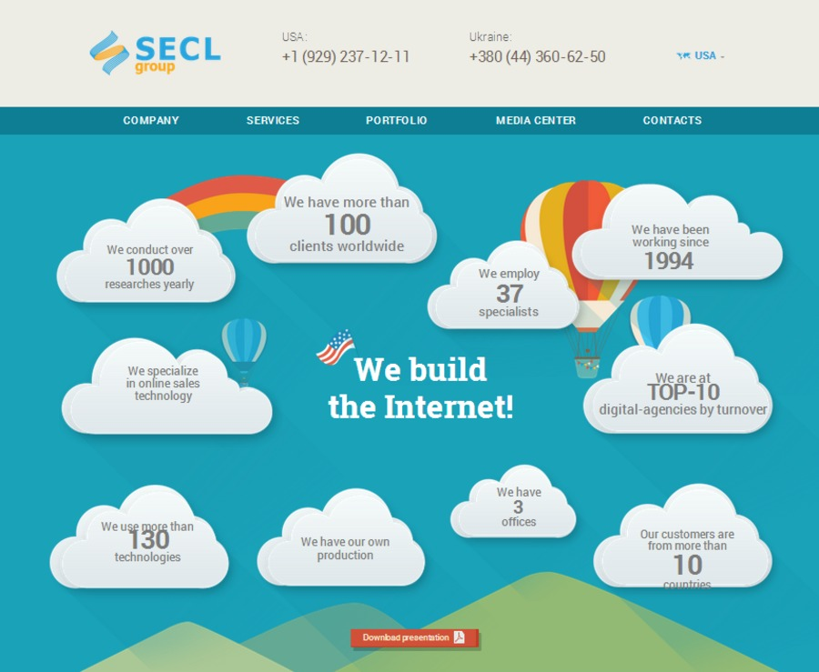 A great web design by SECL Group, Kiev, Ukraine: