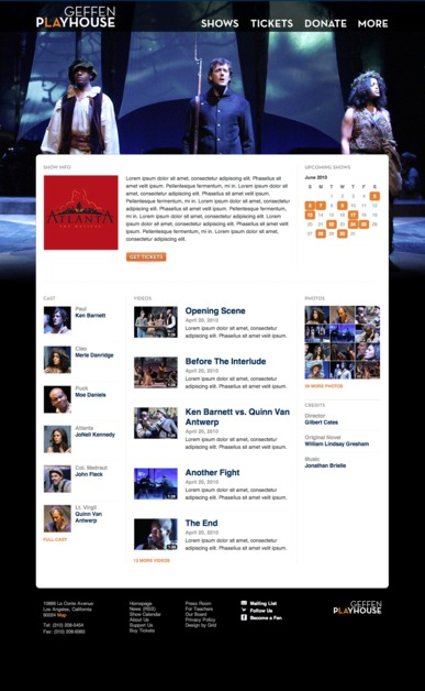 A great web design by Nate Luzod, Detroit, MI: