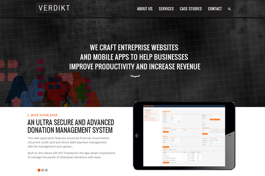 A great web design by Verdikt, Sydney, Australia: