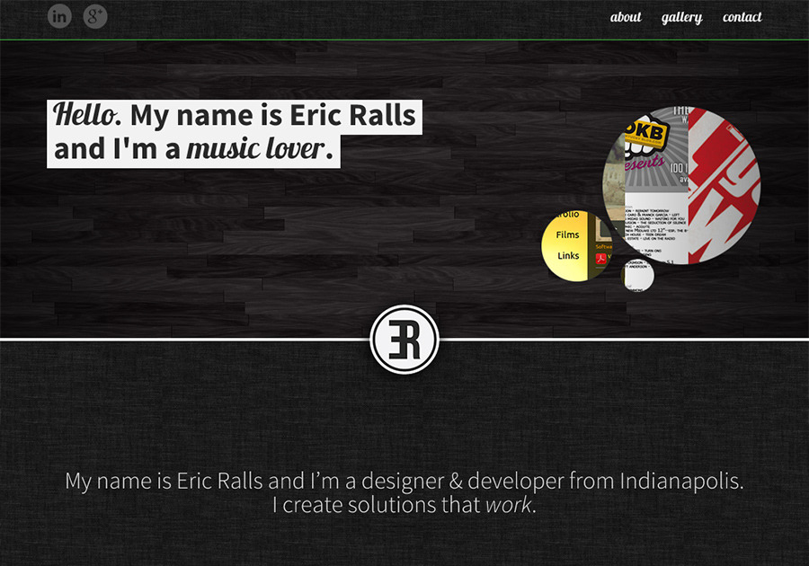 A great web design by Eric Ralls :: Designer & Developer, Indianapolis, IN: Responsive Website, Portfolio , Technology , Static HTML