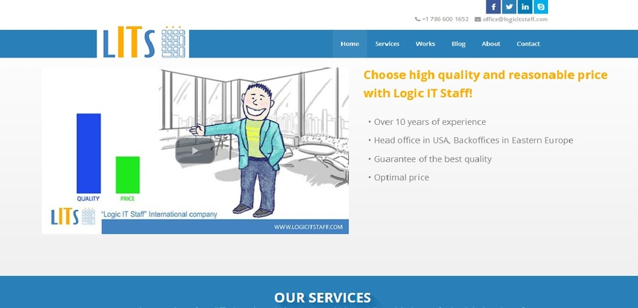 A great web design by Logic IT Staff, San Francisco, CA: