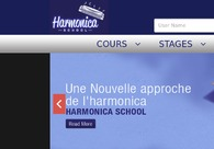 A great web design by Harmonica School, CHATILLON SUR CHALARONNE, France: Website, Marketing Website , Music , PHP