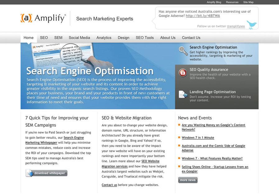 A great web design by Amplify, Sydney, Australia: