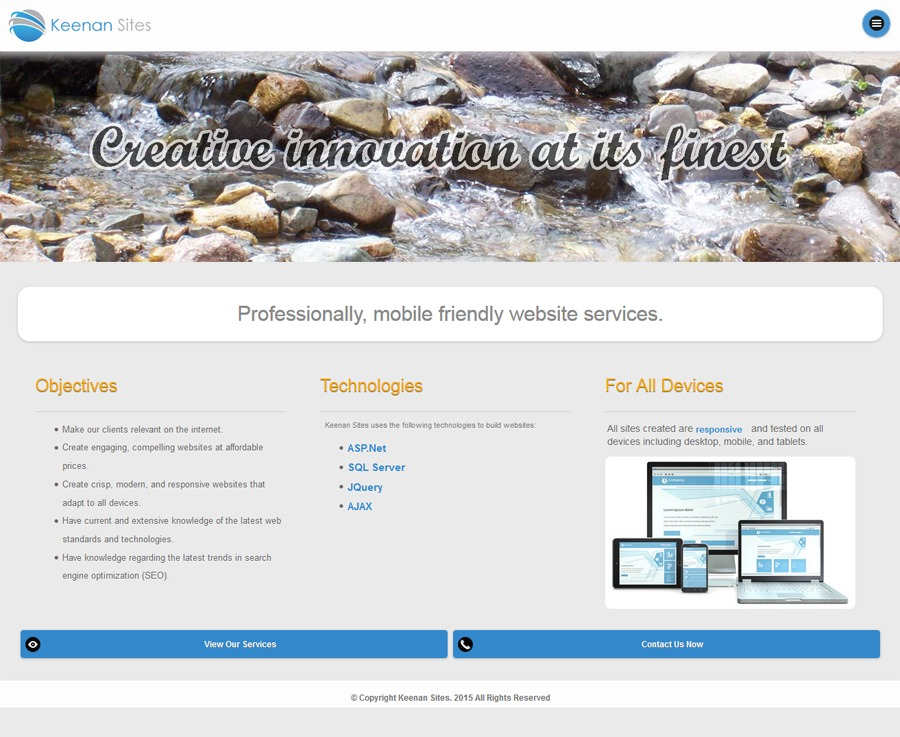 A great web design by Keenan Sites, Grand Junction, CO: Mobile Website, Marketing Website , Internet , ASP.NET