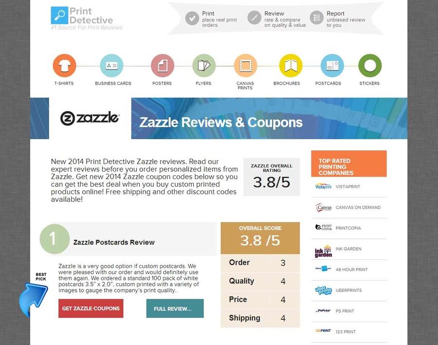 A great web design by Print Detective Reviews, Atlanta, GA:
