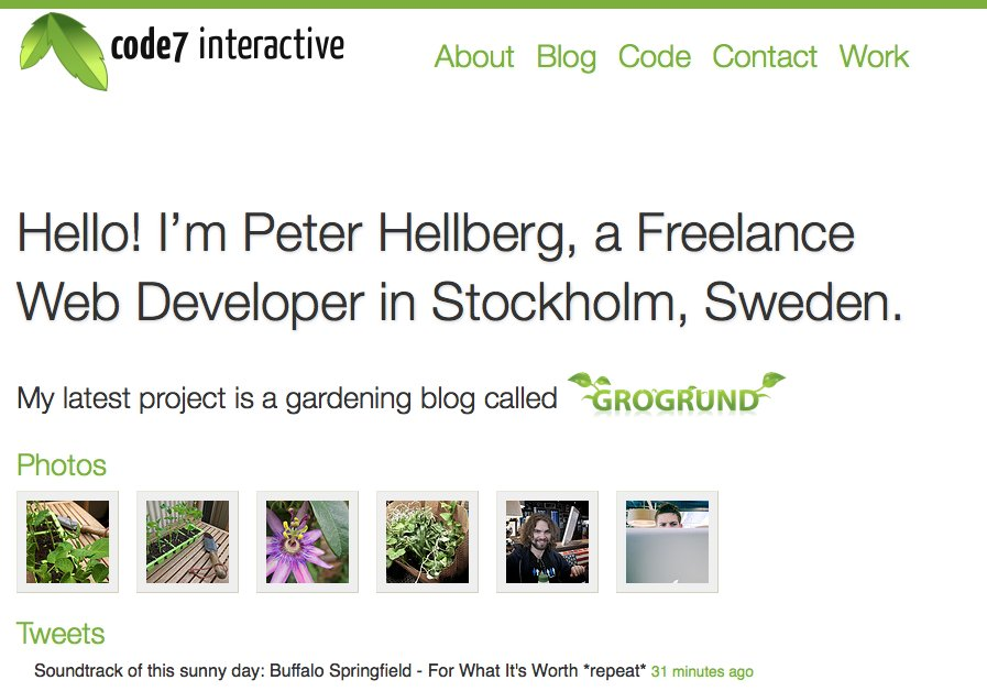 A great web design by Code7 Interactive, Stockholm, Sweden:
