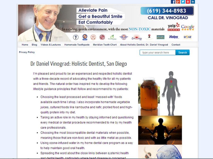 A great web design by Biocompatible Dentist, Los Angeles, CA: Website, Blog , Healthcare, Wordpress