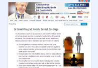 A great web design by Biocompatible Dentist, Los Angeles, CA: Website, Blog , Healthcare, Wordpress