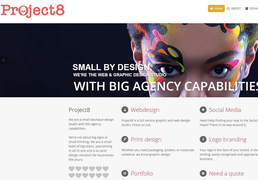 A great web design by Project8, Sosua, Dominican Republic: