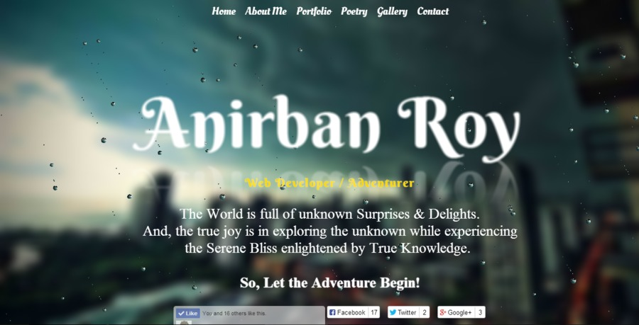 A great web design by Anirban Roy, Bhubaneswar, India: