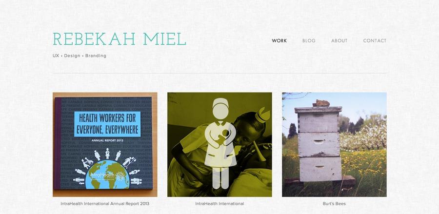 A great web design by Rebekah Miel, Durham, NC: