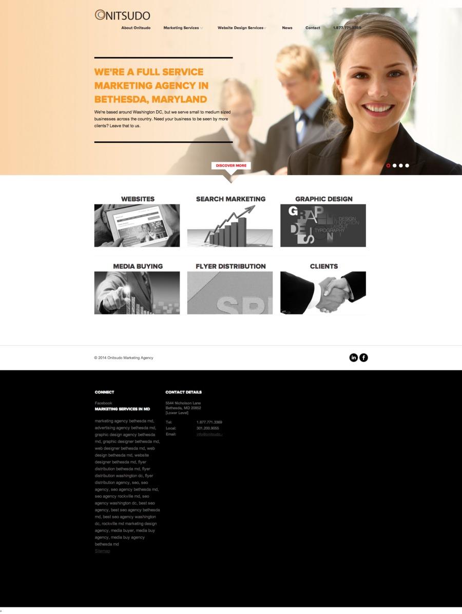 A great web design by Onitsudo Marketing Agency, Washington DC, DC: