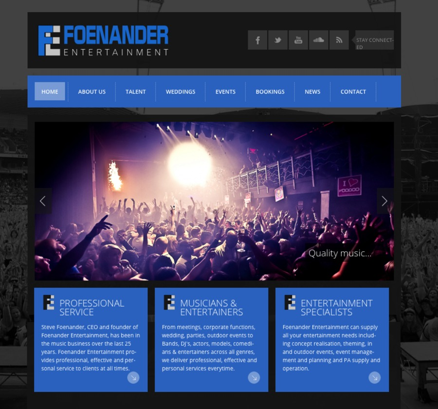 A great web design by Enigma 23 Productions, Los Angeles, CA: