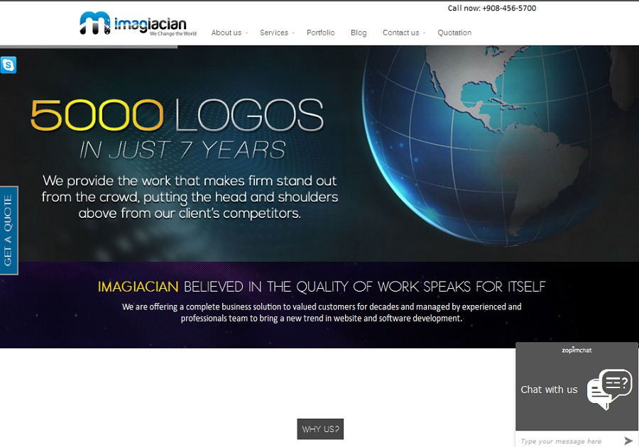 A great web design by Imagiacian, Westfield, NJ: