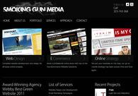A great web design by Smoking Gun Media, Los Angeles, CA: