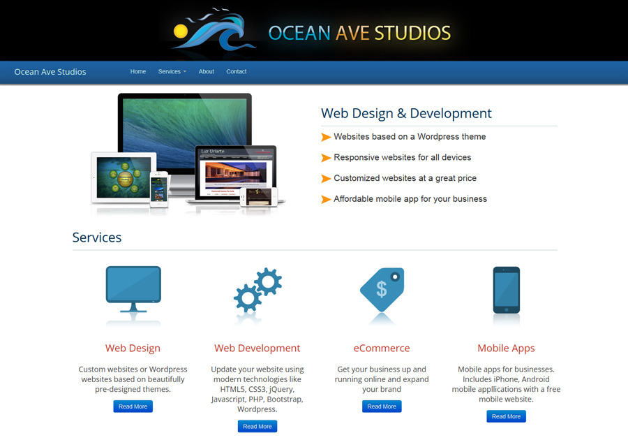 A great web design by Ocean Ave Studios, Los Angeles, CA: