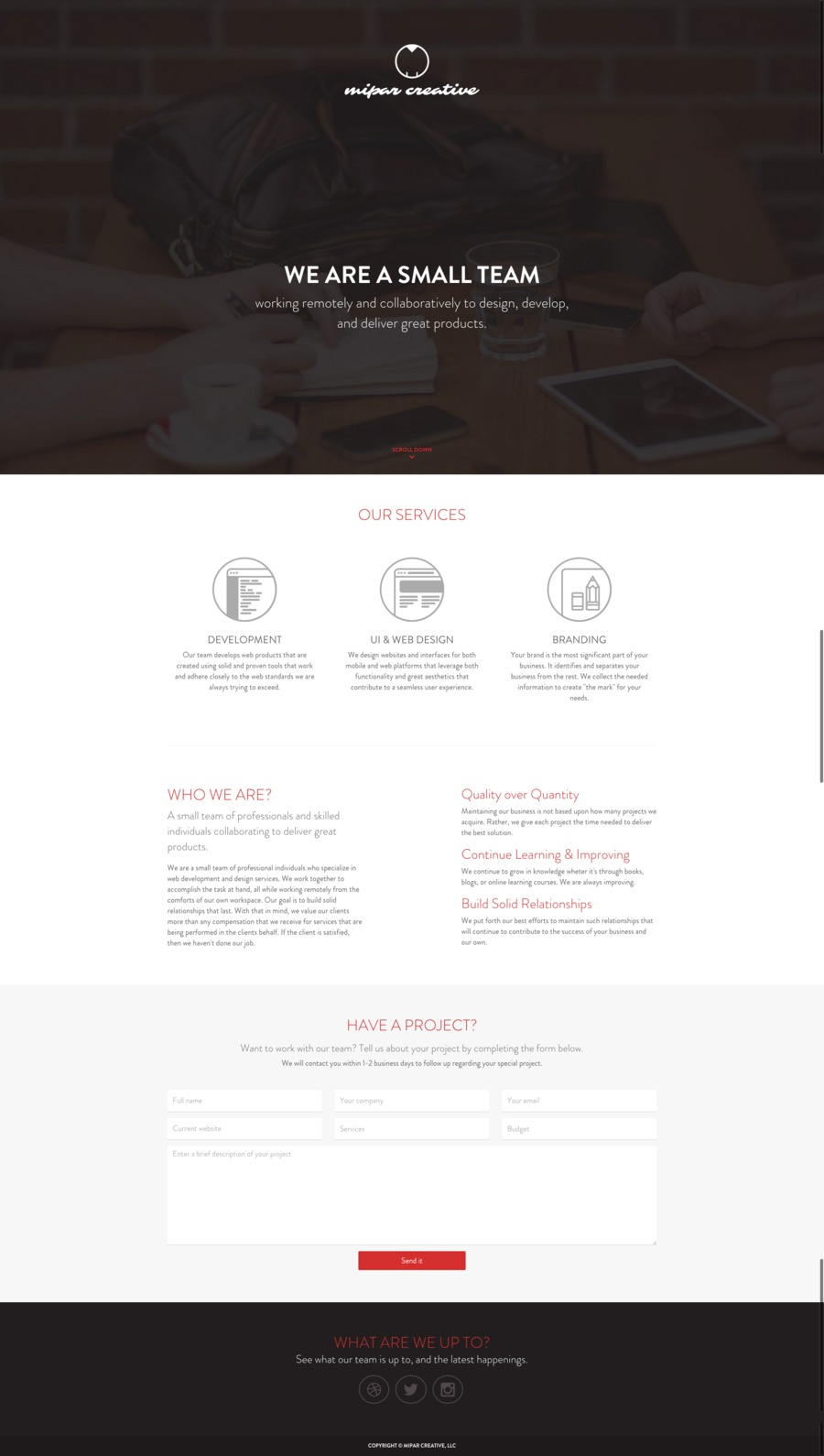 A great web design by MIPAR Creative, Atlanta, GA: Responsive Website, Portfolio , Service , Ruby on Rails