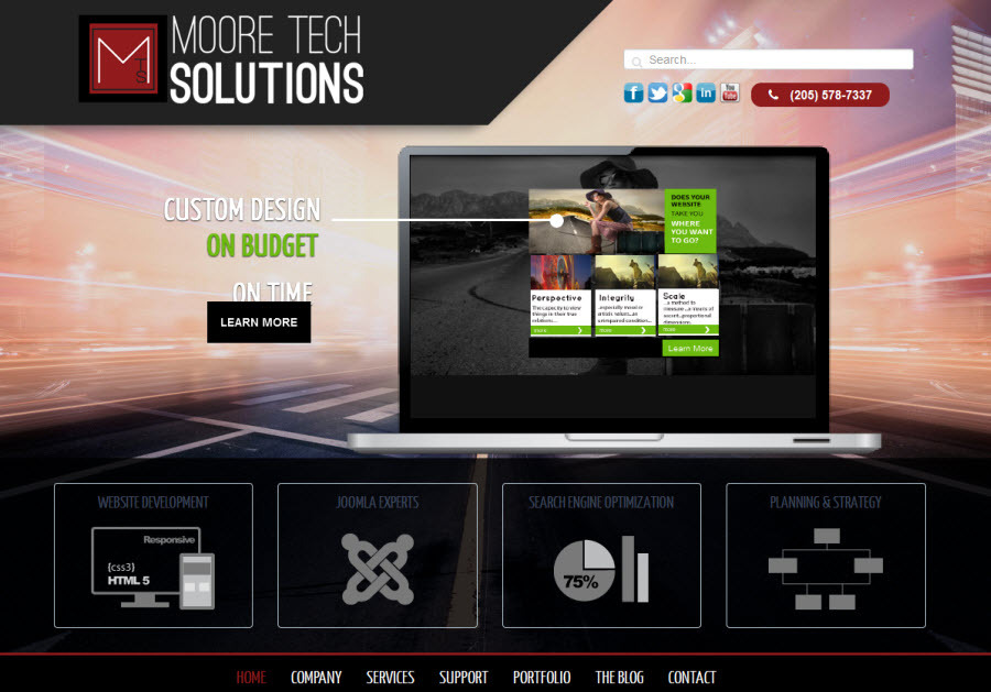 A great web design by Moore Tech Solutions, Inc., Birmingham, AL: