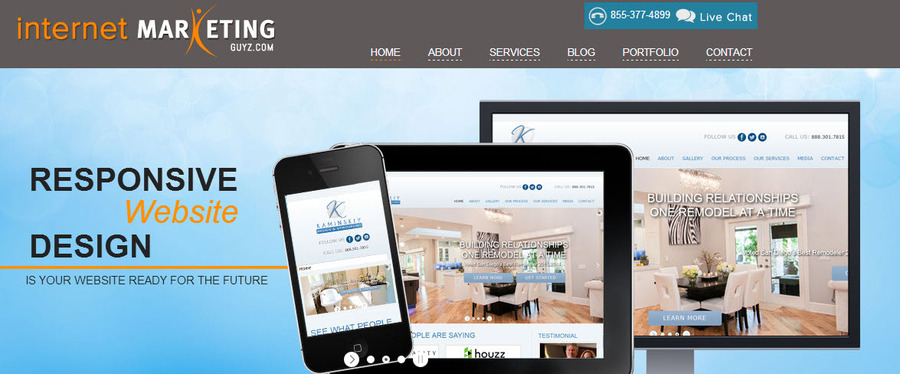 A great web design by Internet Marketing Guyz, San Diego, CA: