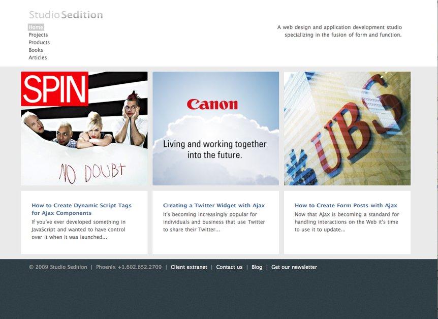 A great web design by Studio Sedition, Phoenix, AZ: