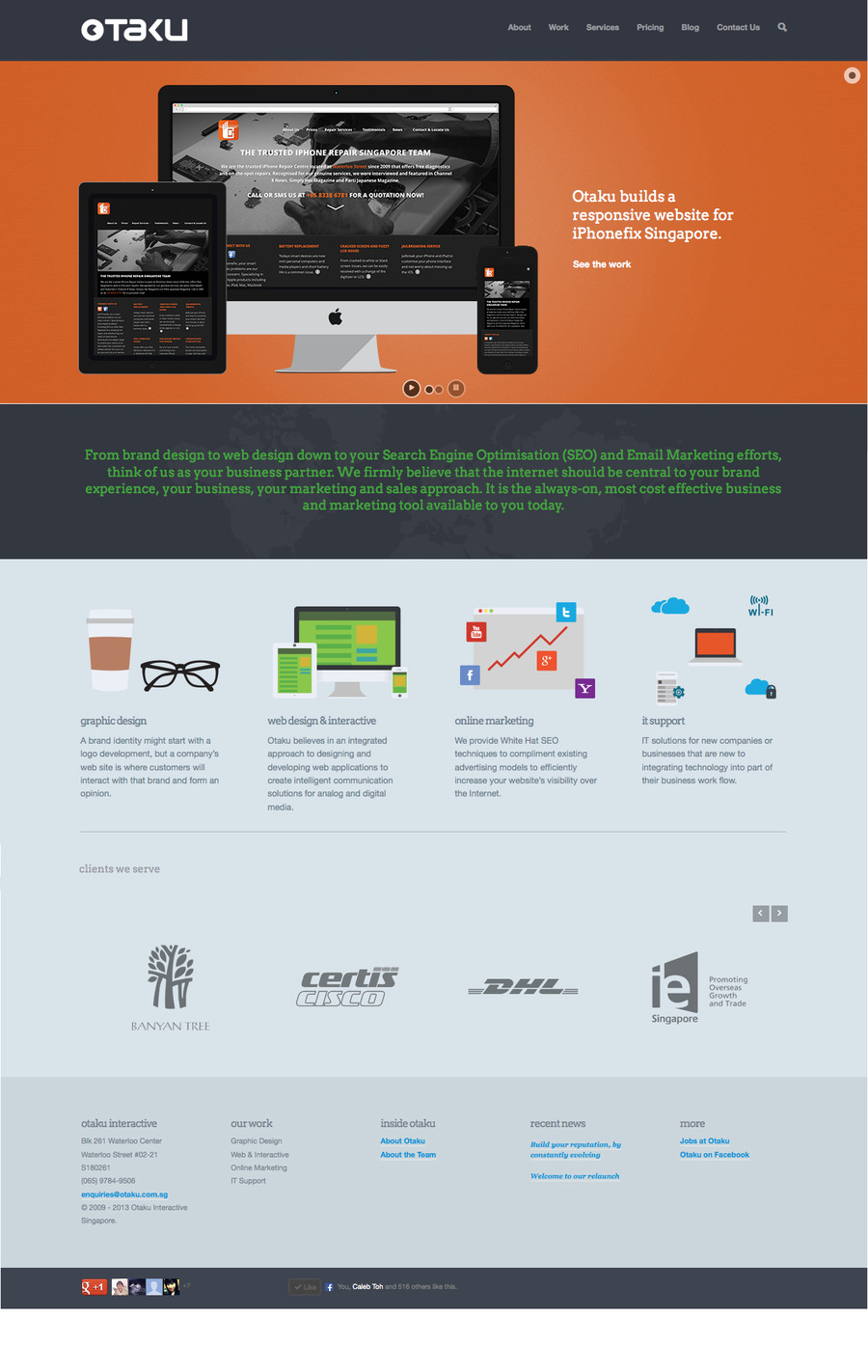 A great web design by Otaku, Singapore, Singapore: Responsive Website, Marketing Website , Internet , Wordpress