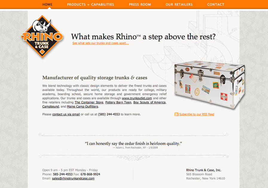 A great web design by GTTS Marketing, Rochester, NY: