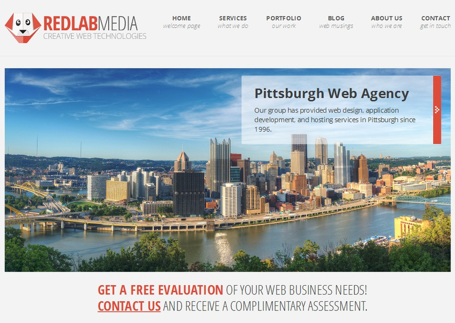 A great web design by Red Lab Media, Pittsburgh, PA: