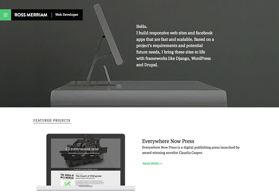 A great web design by Ross Merriam | Web Developer, Vancouver, Canada: