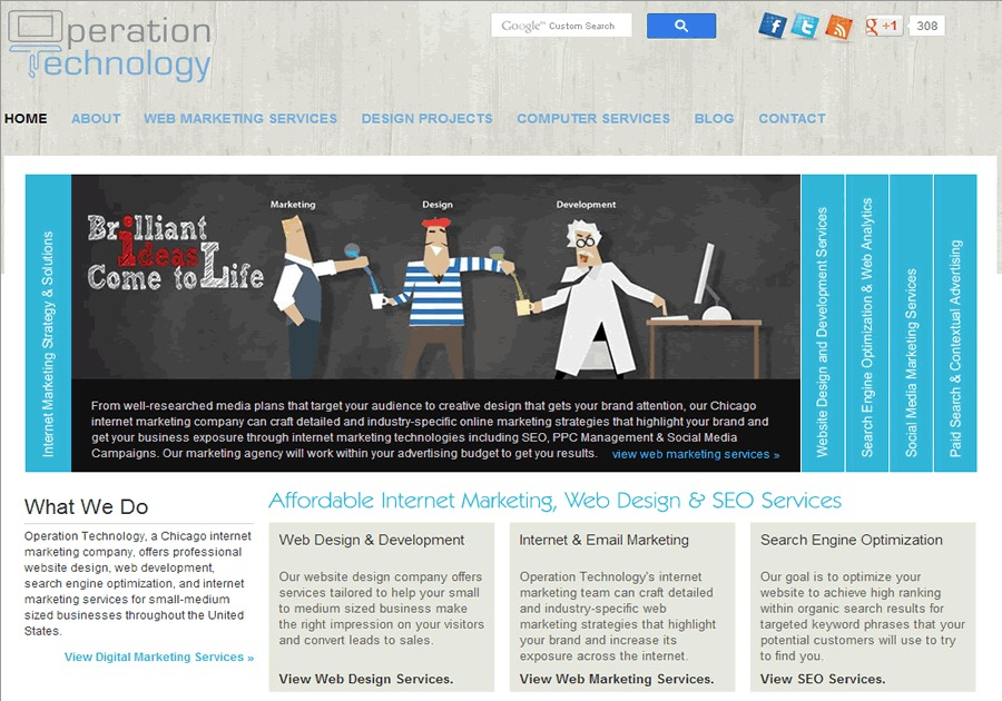 A great web design by Operation Technology, Chicago, IL: Website, Marketing Website