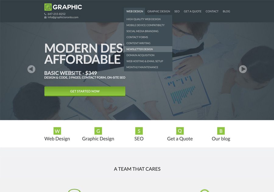 A great web design by Graphic, Toronto, Canada: