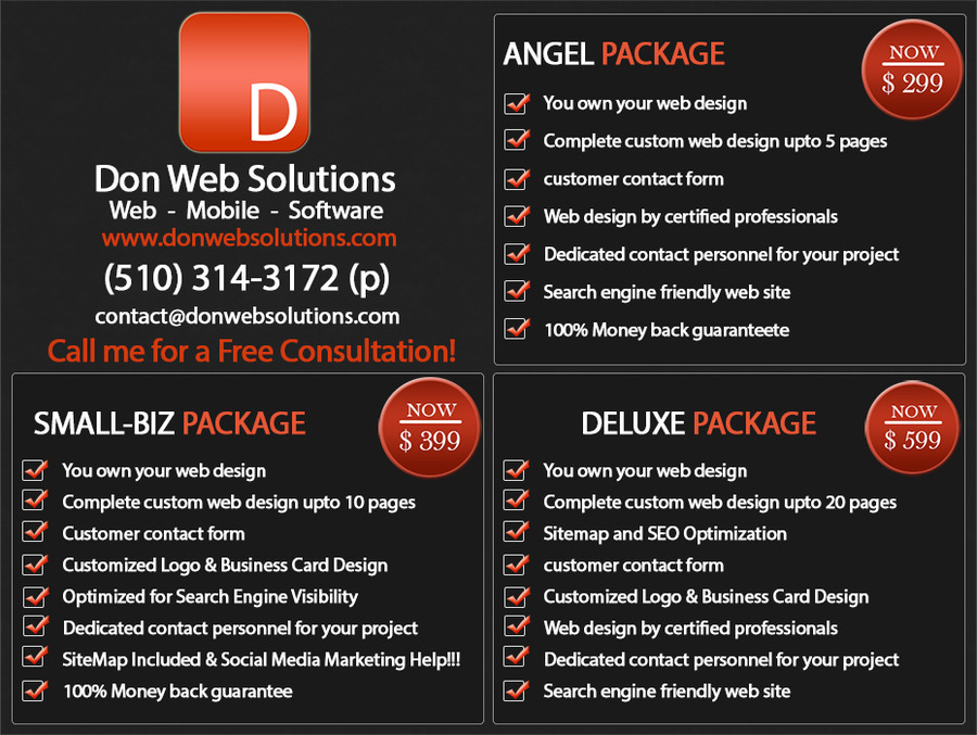 A great web design by Don Web Solutions, San Francisco, CA: