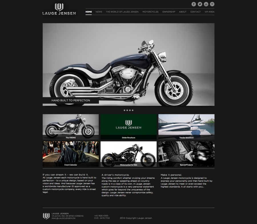 A great web design by Your Virtual Ninja, Vejle, Denmark: