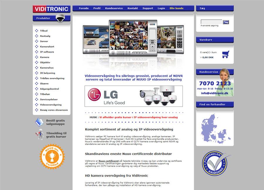 A great web design by Viditronic videoovervågning, Copenhagen, Denmark: