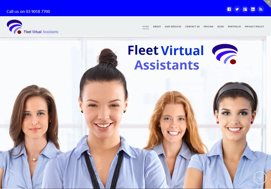 A great web design by Fleet Virtual Assistants, Melbourne, Australia: