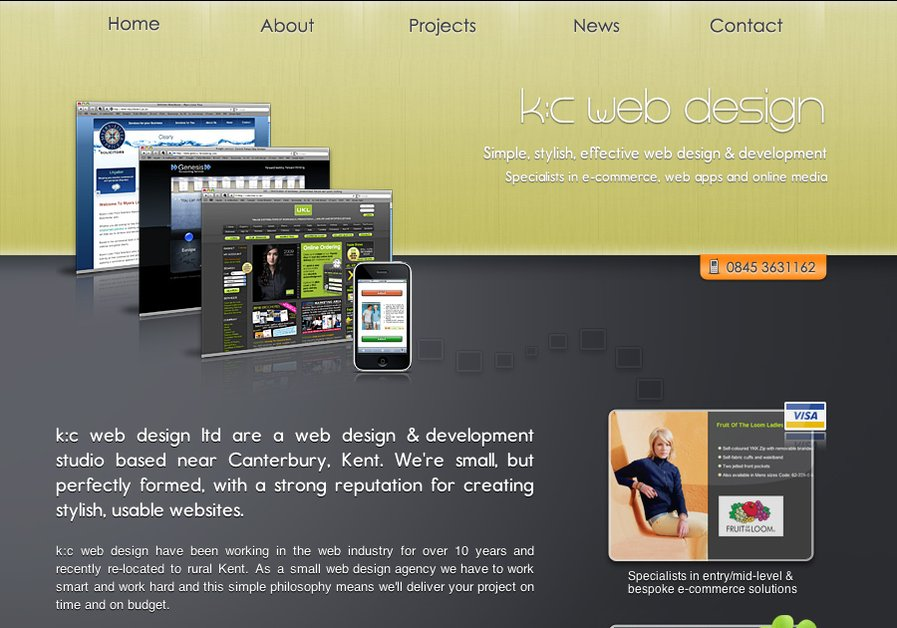 A great web design by k:c web design, London, United Kingdom: