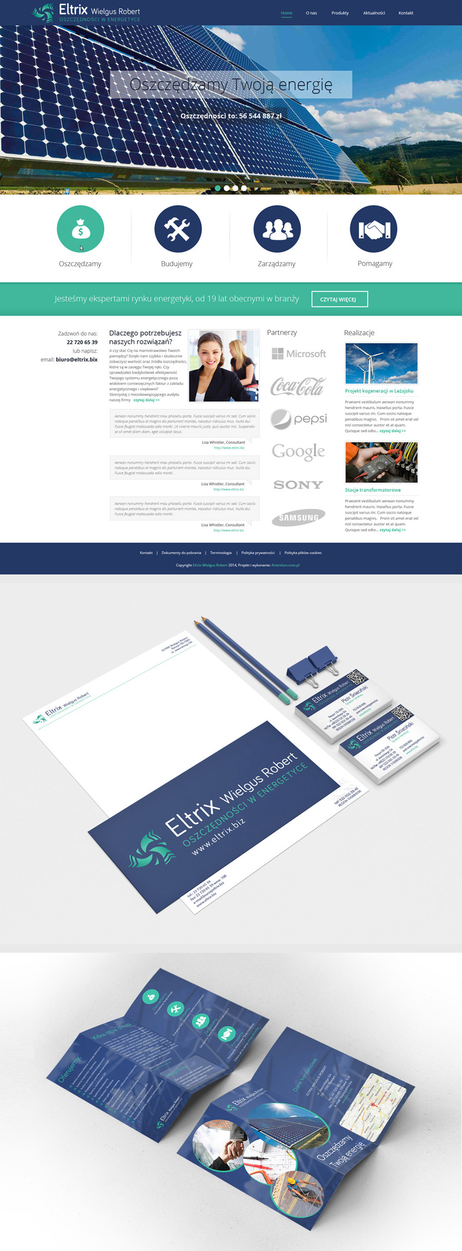 A great web design by Katarzyna Zwiech, London, United Kingdom: Responsive Website, Marketing Website , Energy , PHP