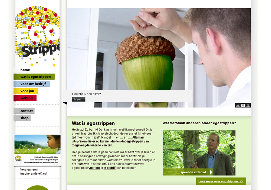 A great web design by blink, Arnhem, Netherlands: