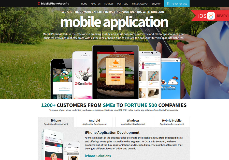A great web design by MobilePhoneApps4U, Sarasota, FL: