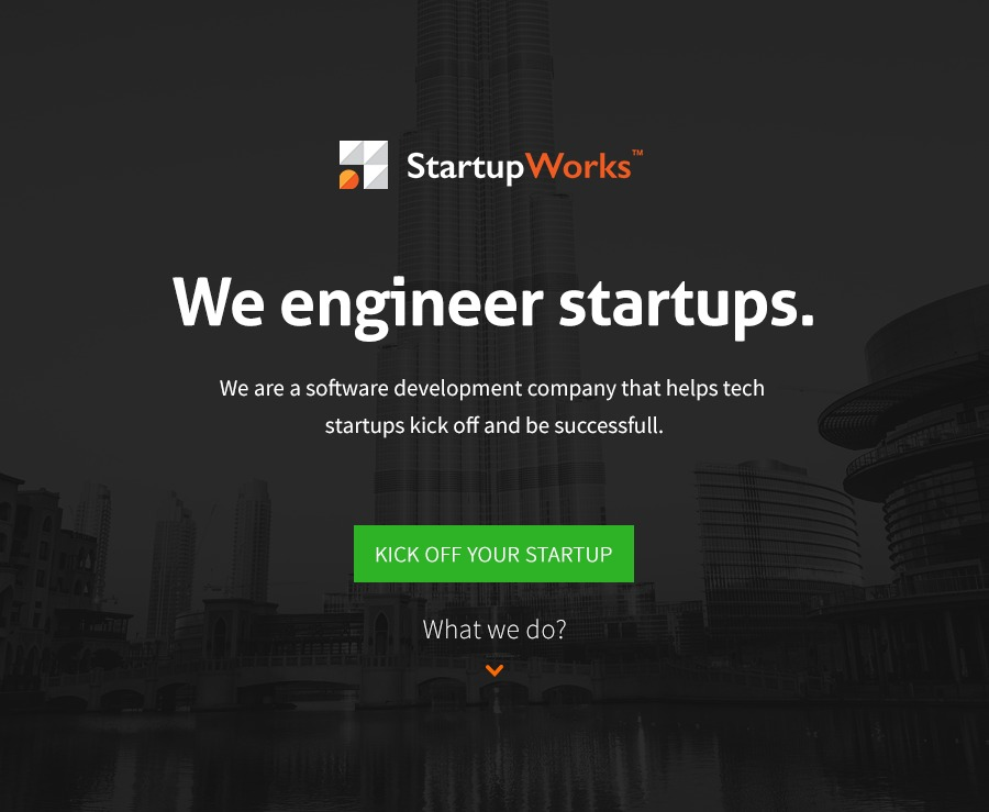 A great web design by StartupWorks, Warsaw, Poland: