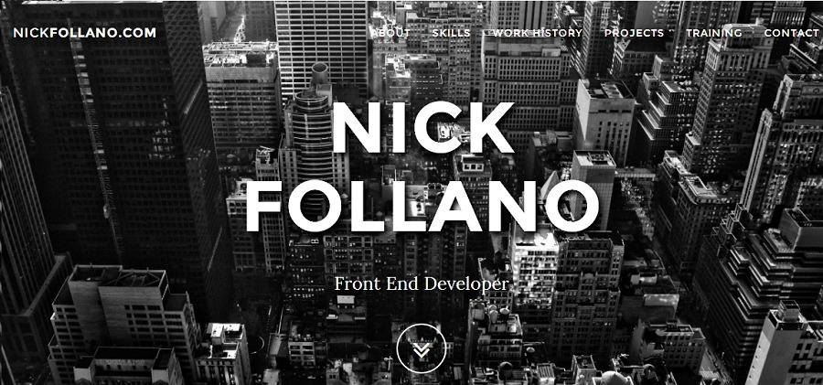 A great web design by Nick Follano, West Palm Beach, FL: Responsive Website, Portfolio , Internet , Static HTML