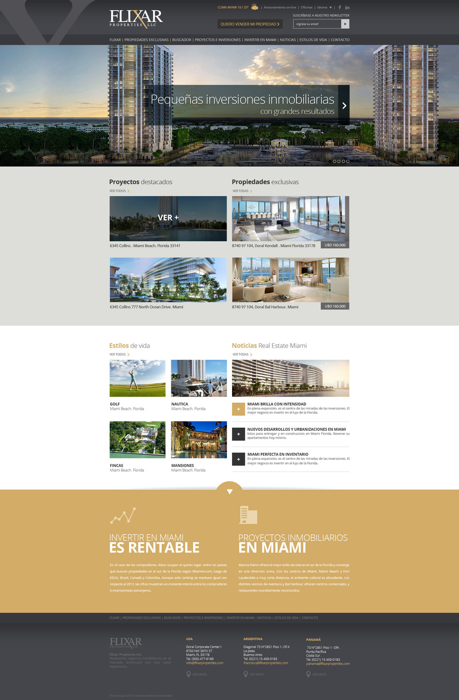 A great web design by CREACTTIVE, Buenos Aires, Argentina: Website, Portfolio , Real Estate , PHP