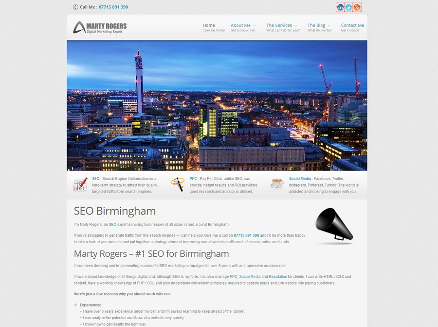 A great web design by Marketing Marty, Liverpool, United Kingdom: