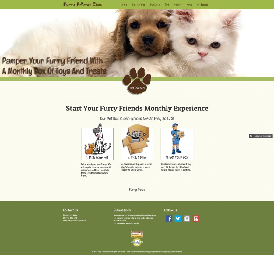 A great web design by Vontainment, Port Charlotte, FL: