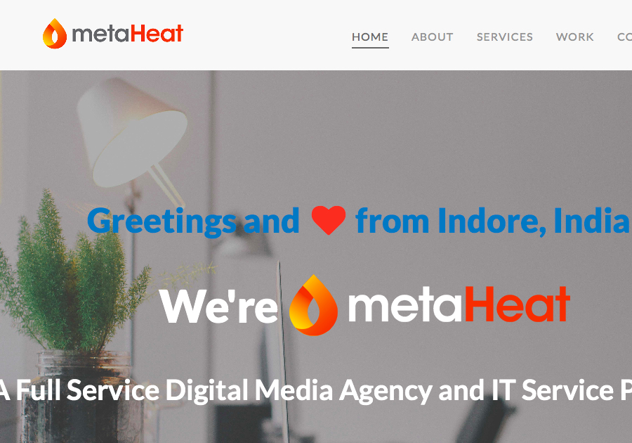 A great web design by metaHeat, Indore, India: