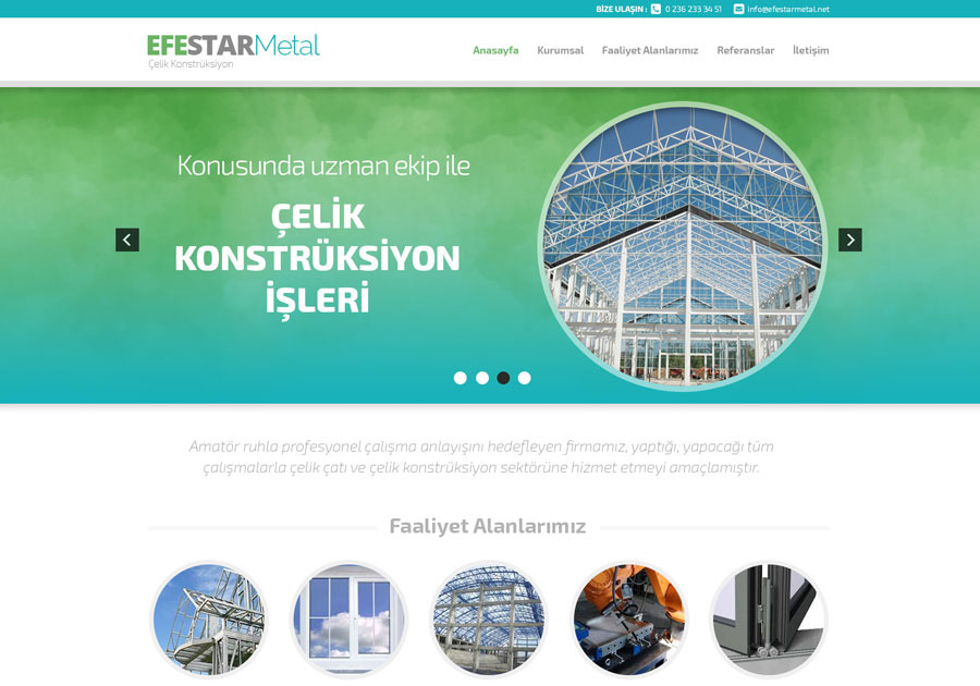 A great web design by 45Derece Creative Agency, Manisa, Turkey: