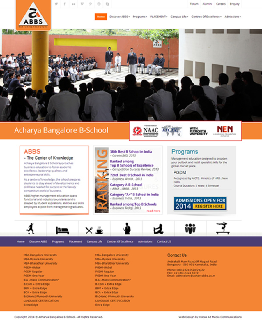 A great web design by Vistas AD Media , Bangalore, India: Website, Web Application , Education , Wordpress