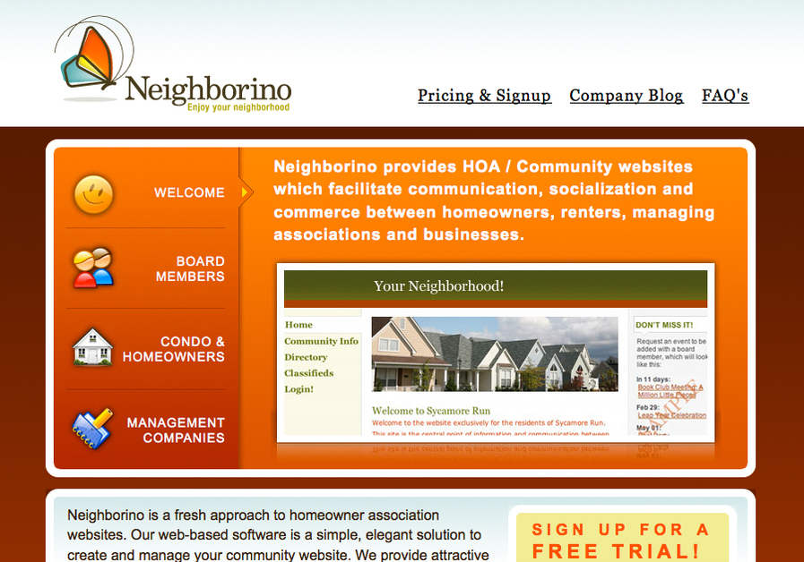 A great web design by Neighborino | HOA Websites, Indianapolis, IN: